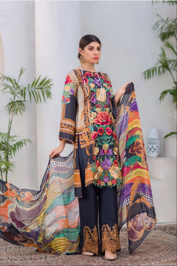 Rumex – Digital Embroidered Lawn Karandi