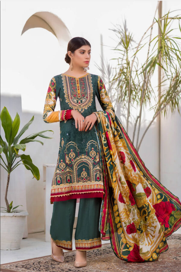 PEARLWORT – Digital Embroidered Lawn Karandi