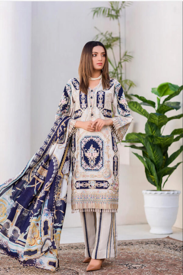 Biannual – Digital Embroidered Lawn Karandi