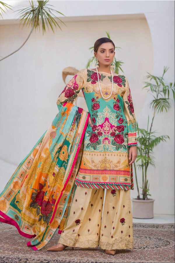 Elite – Digital Embroidered Lawn Karandi